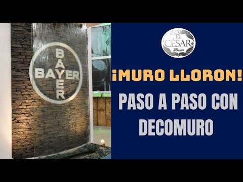 Muro Lloron Con El Panel Marca Decomuro De El Cesar Youtube