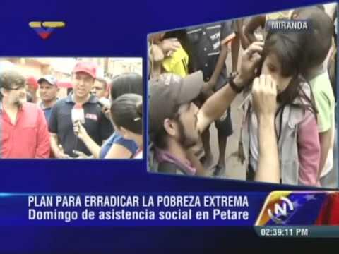 MInistros Fidel Barbarito y Francisco Armada en La Dolorita, Petare