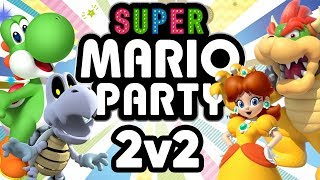 Super Mario Party - WAFFLES vs PANCAKES (2v2 Duos Gameplay)