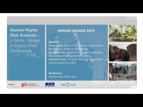 Human Rights And Mineral Supply Chains | Mining Indaba 2019