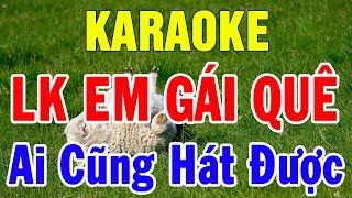 Karaoke Nhạc Vàng Bolero 2019 | Liên khúc Nhạc Sống Em Gái Quê Hát Là Mê Say | Trọng Hiếu