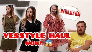 YESSTYLE INFLUENCER NA AKO!  YESSTYLE HAUL + TRY IT ON   ANG HATOL NI HUBBY   Filipina and foreigner