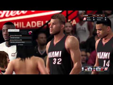 MY GM Blake GRIFFIN FIRST Game for MIAMI :)
