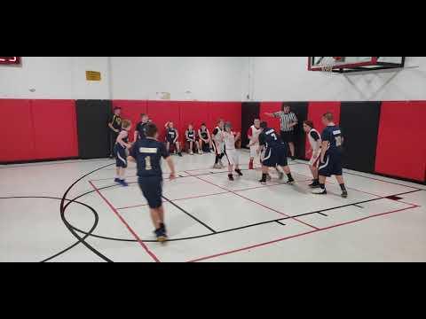 Monongah Middle School 6th Grade Boys Basketball vs East Fairmont Blue (Clip #6)