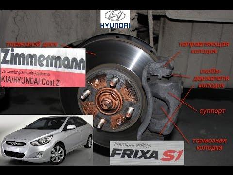 Замена тормозных колодок и дисков HYUNDAI Solaris / kia rio