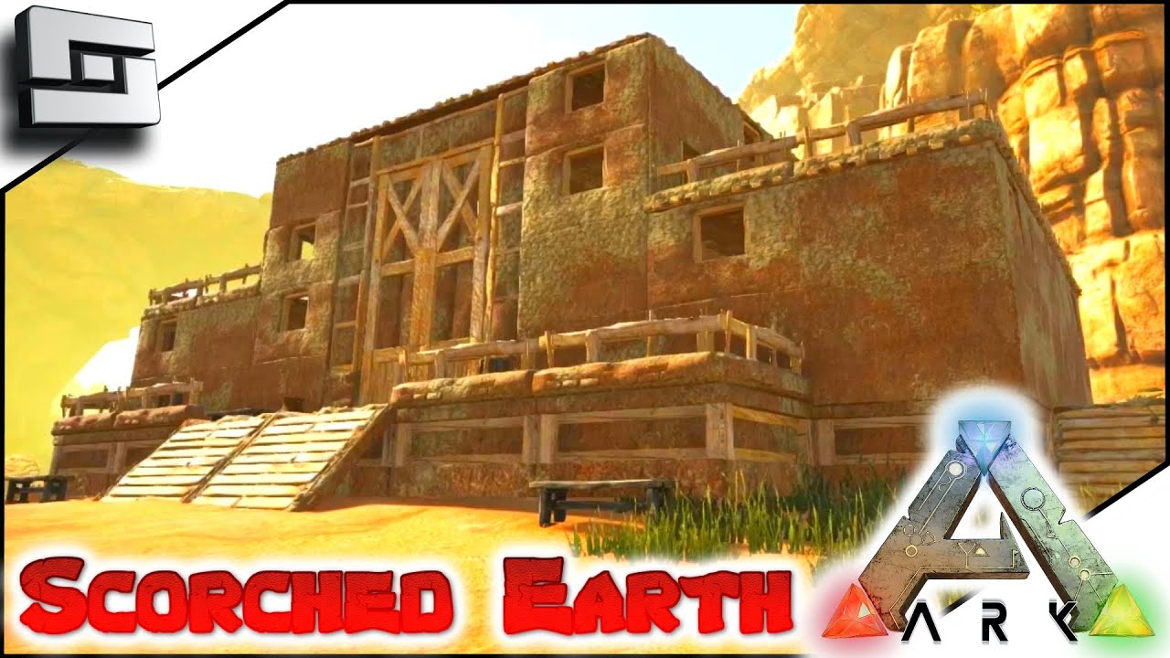 Scortched Earth Map.Ark Scorched Earth New Adobe Base Place E12 Scorched Earth