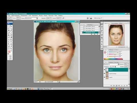 Макияж в Фотошопе для начинающих(коррекция лица,ресницы,брови,губы)/easy make up in Photoshop