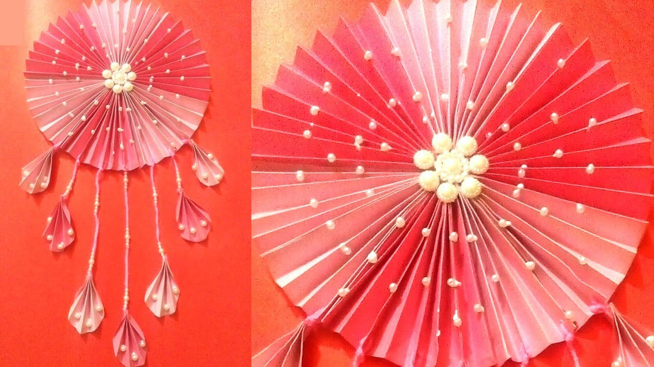 Make Color Paper Wall Hanging Colorpaper Craft Ideas Quill Paper Wall Hangers For Room Decor Youtube