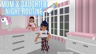 MOM & DAUGHTER NIGHT ROUTINE II Roblox Bloxburg