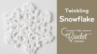 Left Hand: Crochet Twinkling Snowflake #2 Tutorial