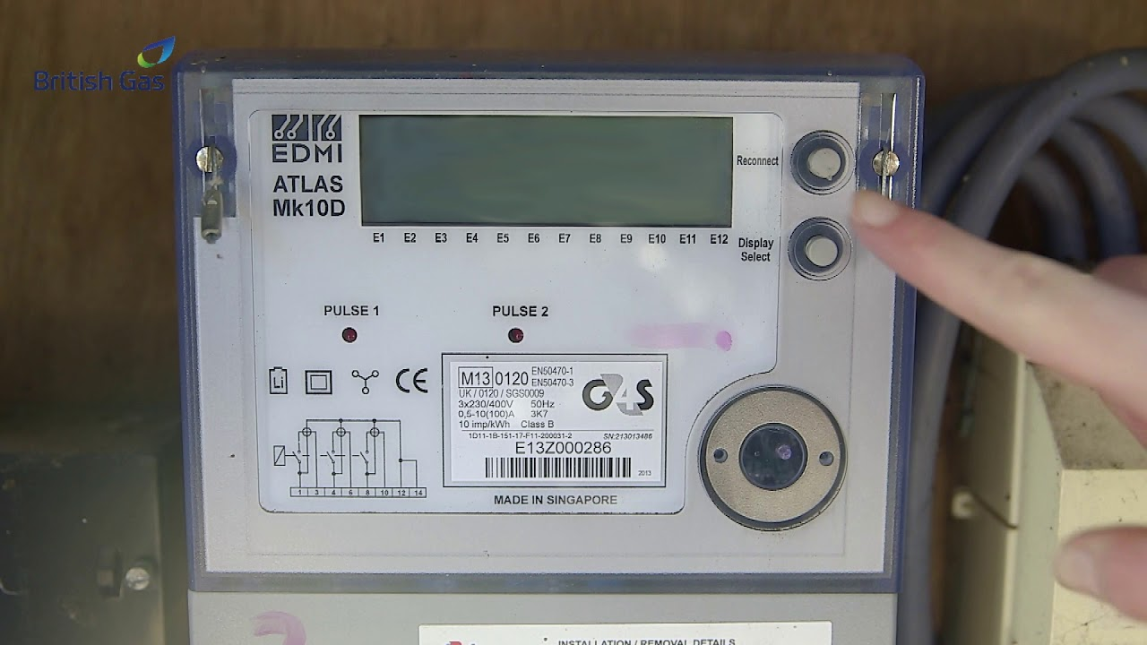 British Gas Business How To Read An Electricity Smart Meter Youtube