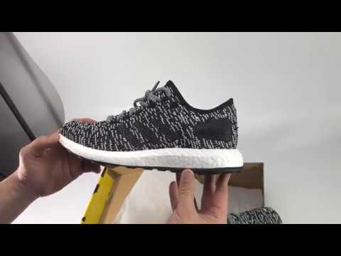 48f1296ae1e0 UA Adidas Pure Boost LTD Running Grey Unboxing Review - YouTube