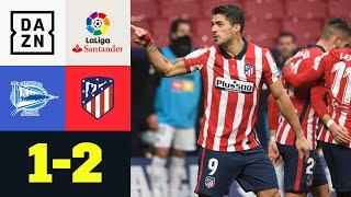 Tabellenführung! Suarez rettet 3er kurz vor Schluss: Alaves – Atletico Madrid 1:2 | LaLiga | DAZN