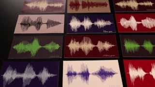 Bespoken Art: Sound Wave Art