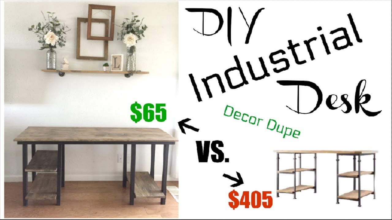 Diy Industrial Farmhouse Desk 65 How To Build A Desk Momma From Scratch Youtube
