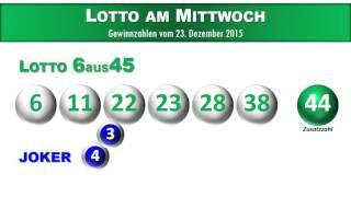 Lotto Österreich: 6 aus 45 Gewinnzahlen und Joker vom 23.12.2015