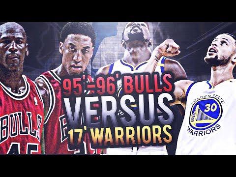 2017 GOLDEN STATE WARRIORS VS 1996 CHICAGO BULLS! CURRY VS JORDAN! DURANT VS PIPPEN! NBA SIMULATOR