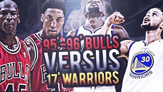 2017 GOLDEN STATE WARRIORS VS 1996 CHICAGO BULLS! CURRY VS JORDAN! DURANT VS PIPPEN! NBA SIMULATOR