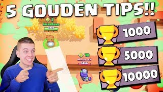 5 TIPS OM 10.000+ TROPHIES TE KRIJGEN IN BRAWL STARS!! NEDERLANDS