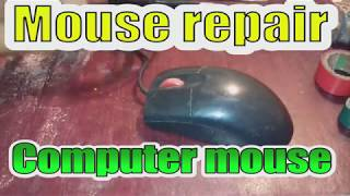 IBM mouse repairing English. How to repair a bad mouse. Do it yourself repair on mouse