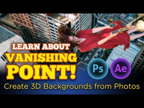 Photoshop Vanishing Point to After Effects VFX. Turn 2D photos into 3D backgrounds!