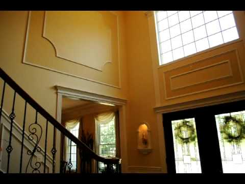 Foyer molding work - YouTube