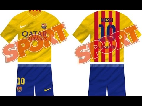 1f314f3c0fefb Como Hacer el Uniforme de Visitante del FC BARCELONA 2015 2016 en PES PS2