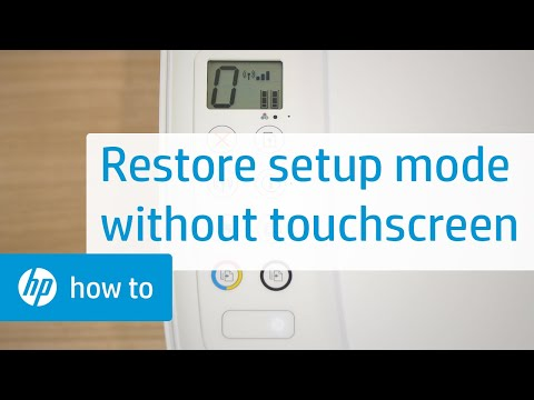 Restore Setup Mode on HP Printers Without a Touchscreen Display | HP Printers | HP