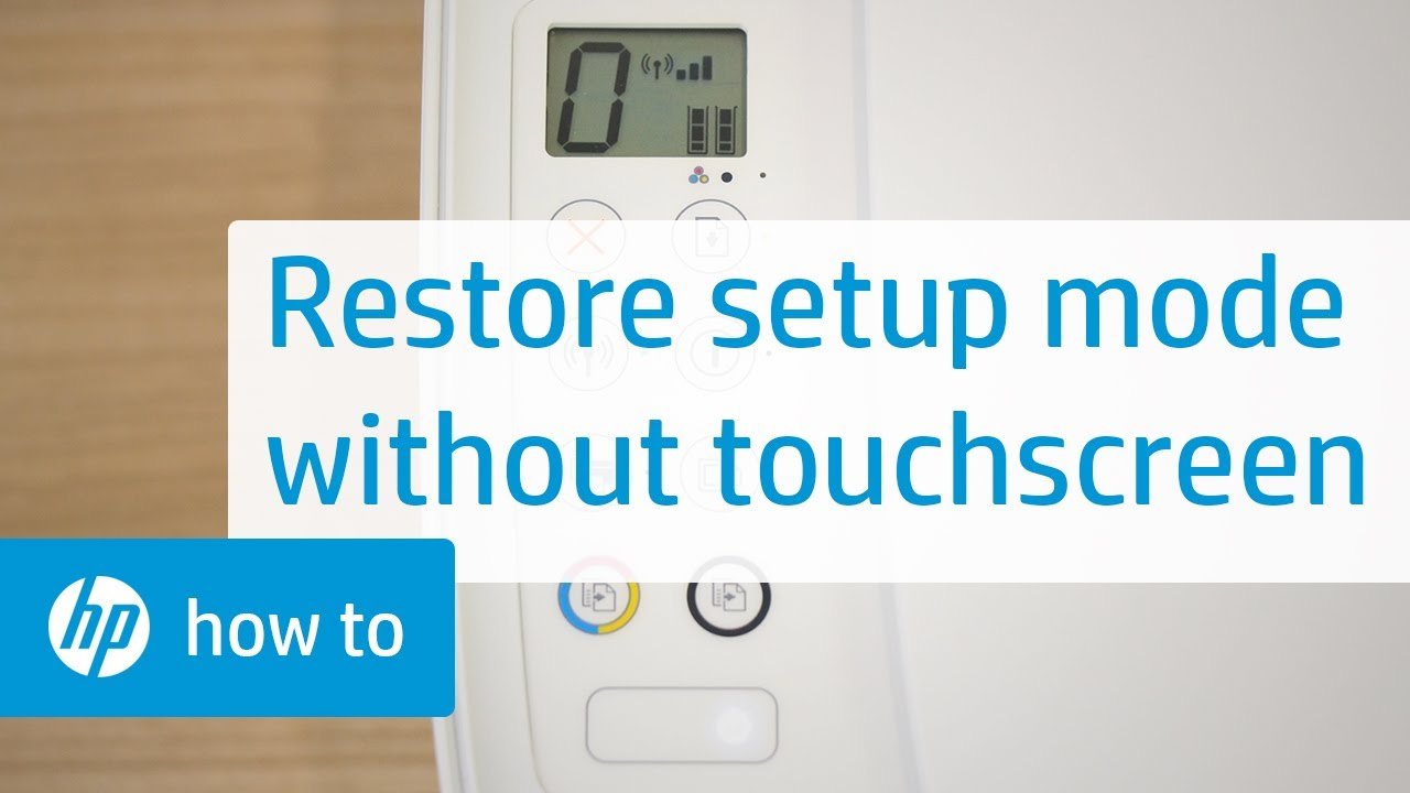 How To Restore Setup Mode on HP Printers Without a Touchscreen Display | HP  Printers | HP