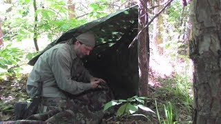 Stealth Camping, Fun With Camo Tarp Shelters
