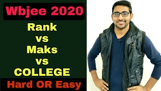 Wbjee 2020 : Rank Vs Marks vs College | Expected cutoff | Wbjee 2020 paper analyses | Top 10 college