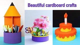 Beautiful waste cardboard craft idea || DIY organizer || cool craft ideas