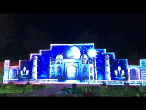 3D LED Video Wall Wedding Marriage Reception Event Stage Backdrop Decoration India 91 81225 40589