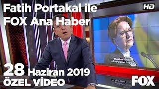 Akşener'e 3 yıl sonra yeniden Fetö soruşturması... 28 Haziran 2019 Fatih Portakal ile FOX Ana Haber