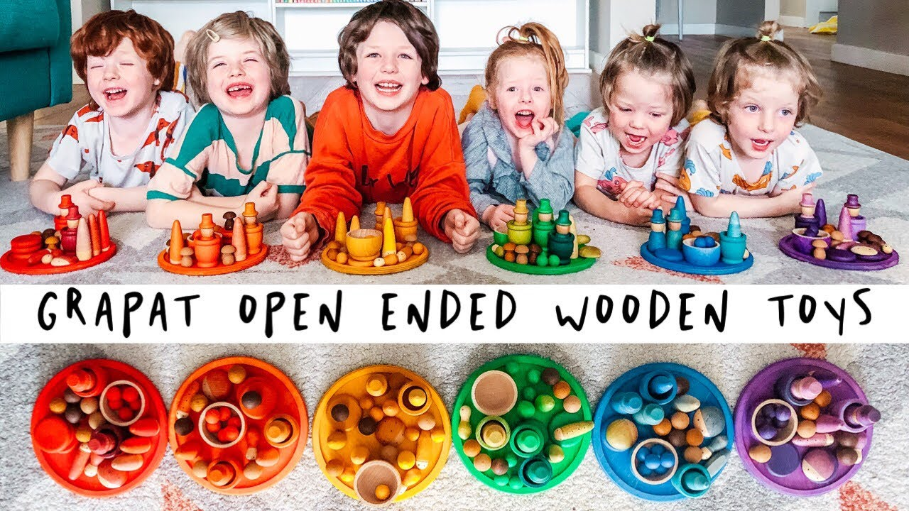 Grapat Open Ended Wooden Toys Unboxing