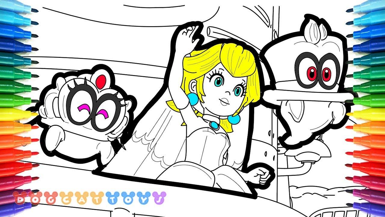 How To Draw Mario Odyssey Princess Peach Tiara Cappy 52