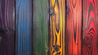 Dyeing Shou Sugi Ban Wood - How to Dye Wood with Keda Wood Dye
