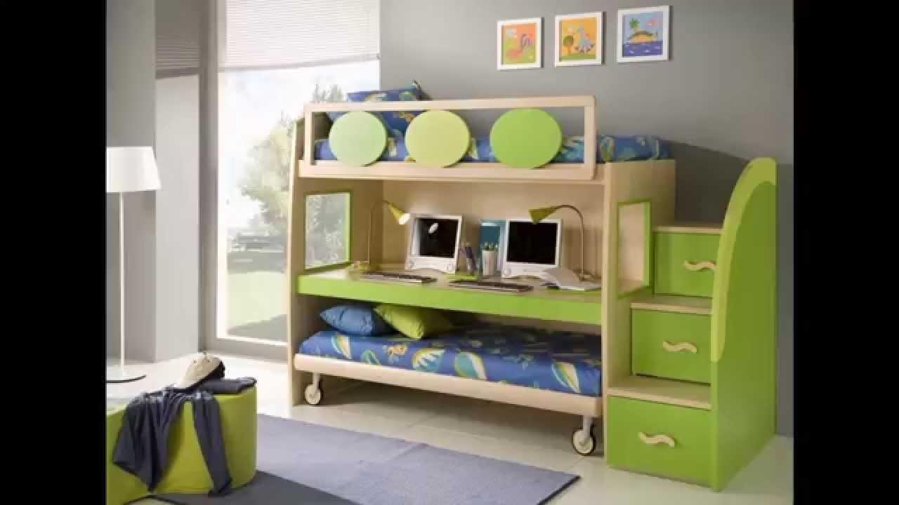Bunk beds for small rooms youtube - Ideas for beds in small spaces model ...