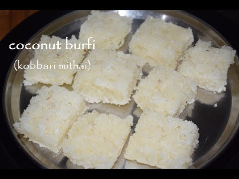 Kobbari Mithai recipe/Coconut burfi recipe in kannada/Nariyal burfi/Kayi burfi in Kannada