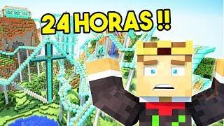 FICAMOS 24 HORAS PRESOS EM UM PARQUE DE DIVERSÃO NO MINECRAFT !!