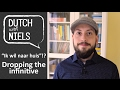 Learn Dutch  Dropping the infinitive   with Niels