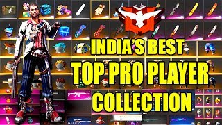 FREE FIRE BEST PRO PLAYER COLLECTION | SEASON 1 PLAYER COLLECTION | TELUGU GAMING ZONE