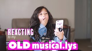 REACTING TO MY OLD MUSICALLY VIDEOS!!! | Txunamy