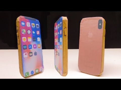 How to Make a iphone X With Cardboard | DIY apple iphone x