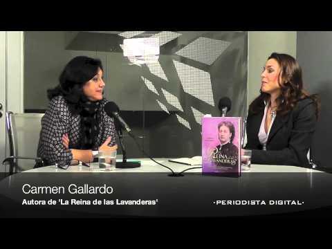 Carmen Gallardo, autora de 'La reina de las lavanderas'. 21-1-2013