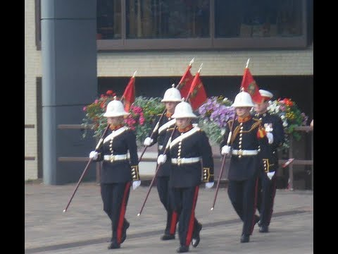 H.M. Royal Marines Band, Beating the Retreat, Guildhall Square