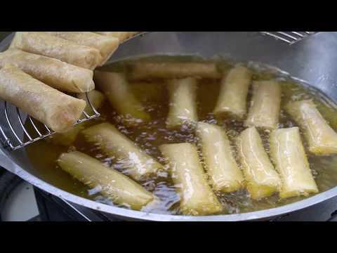 lumpia-kering-isi-bengkuang-dengan-sambal-kacang---indonesian-street-food-#kulinerbogor