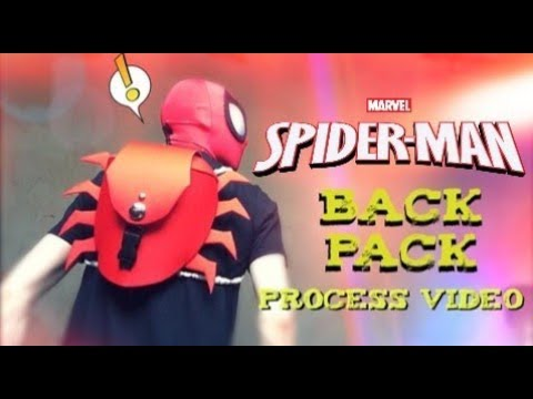 How to Make A Spider-Man Back pack | Process Video