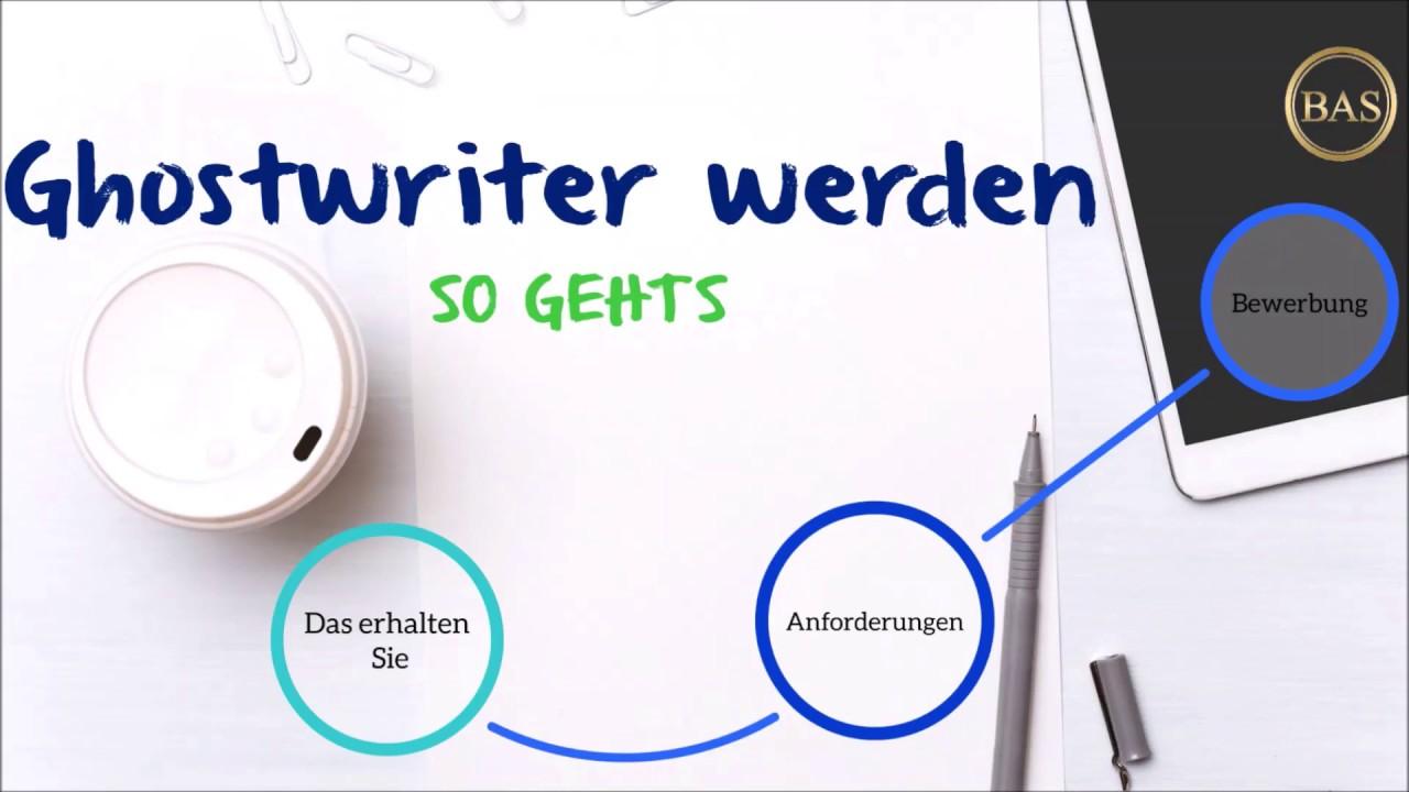 Ghost writer werden englisch analyse einleitung schreiben