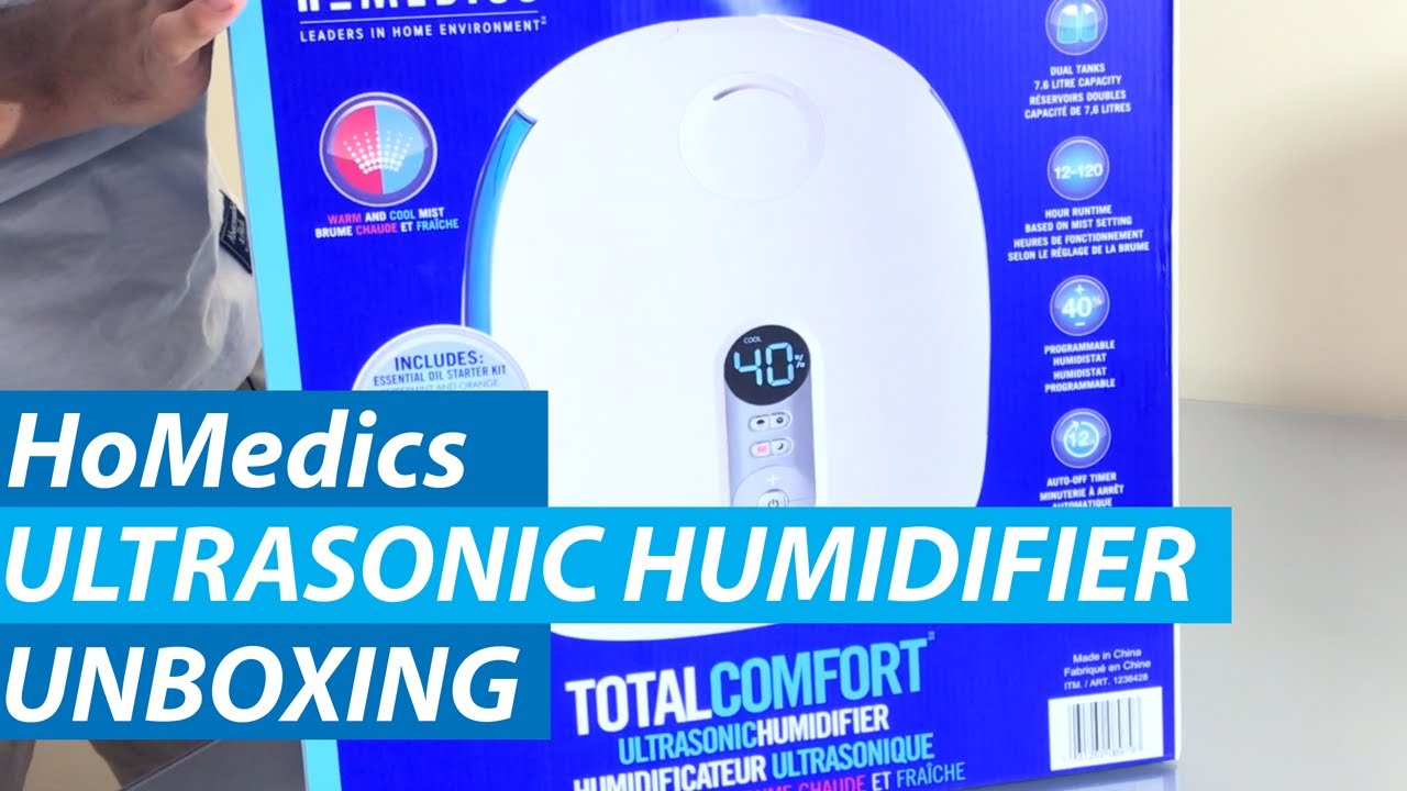 HoMedics Warm /& Cool Mist Ultrasonic Humidifier